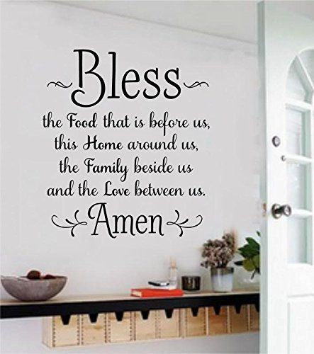 Large Bless The Food Before Us Vinyl Wall Art Decal Word Sticker Home Dcor  Gift * Check This Awesome Product By Going To The Link At The Image.