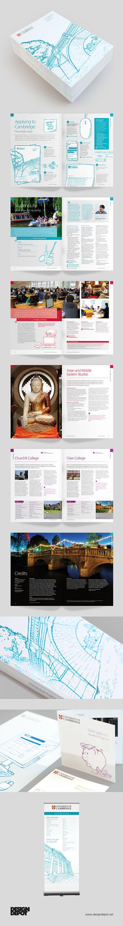 Cambridge University prospectus, artwork, learning, university, identity, branding, design depot, prospectus, education, graphics, Northamptonshire #DesignDepot
