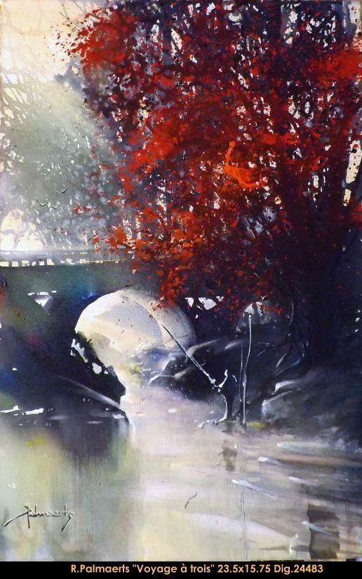 Roland Palmaerts original painting on canevas #rolandpalmaerts #trees #water #art #originalpainting #multiartltee