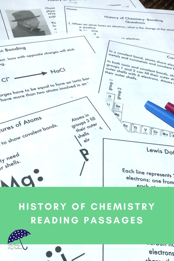 Are you teaching middle school or upper elementary chemistry? Do some of your students need a little extra help? Understanding the history of chemistry can help students understand the concepts you are teaching. Using reading passages is an opportunity for cross-curricular instruction with science, social studies, and reading. Learn all about ionic and covalent bonding. Click to see more!