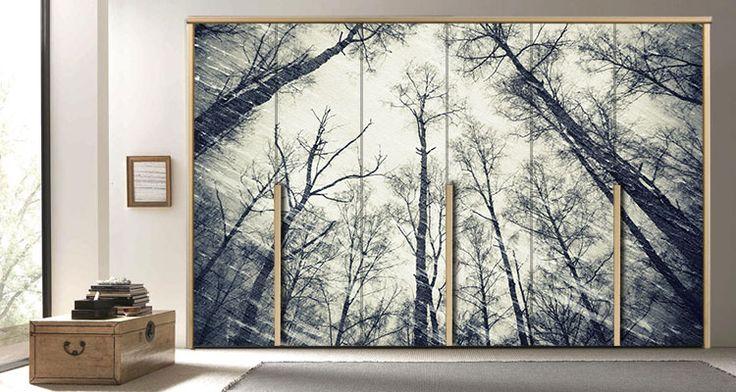Διακοσμητικό Αυτοκόλλητο Ντουλάπας Houseart - Δέντρα