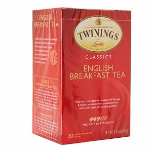 Twinings English Breakfast Tea.  A great mid-morning tea.  After your wake-up with Irish Breakfast Tea.
