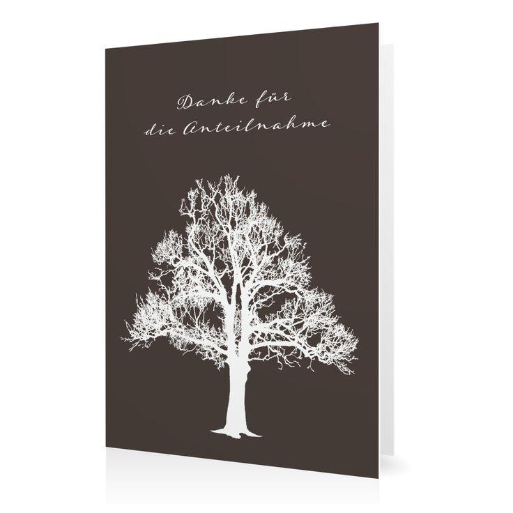 Dankeskarte Lebensbaum in Schamott - Klappkarte hoch #Trauer #Danksagungskarten #elegant https://www.goldbek.de/trauer/danksagungskarten/dankeskarte-lebensbaum?color=schamott&design=9e089&utm_campaign=autoproducts