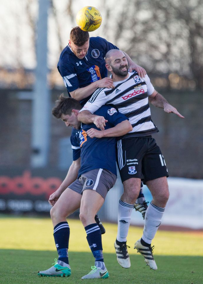 Queen's Park's Adam Cummins in action during the Scottish Cup round 4 game between Ayr United and Queen's Park.