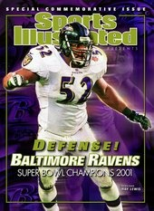 Ray Lewis Baltimore Ravens 2001 Super Bowl Sports Illustrated Cover - www.sicovers.com