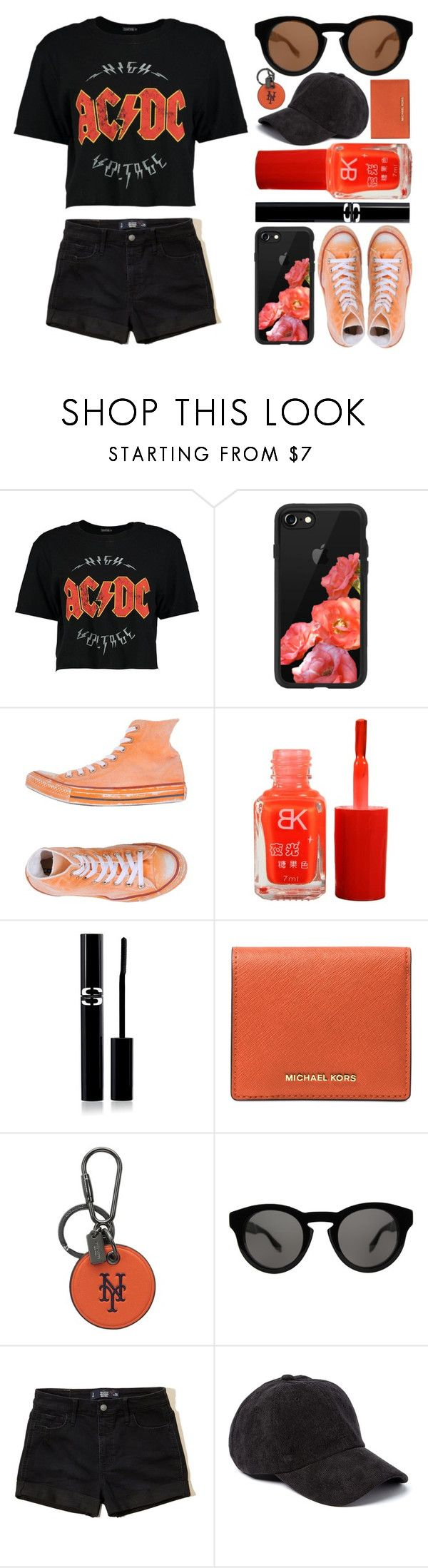 """""""It drives me wild."""" by lexi-loves-fashion ❤ liked on Polyvore featuring Boohoo, Casetify, Converse, Sisley, Michael Kors, Coach, Givenchy, Hollister Co., Boardwalk Style and music"""