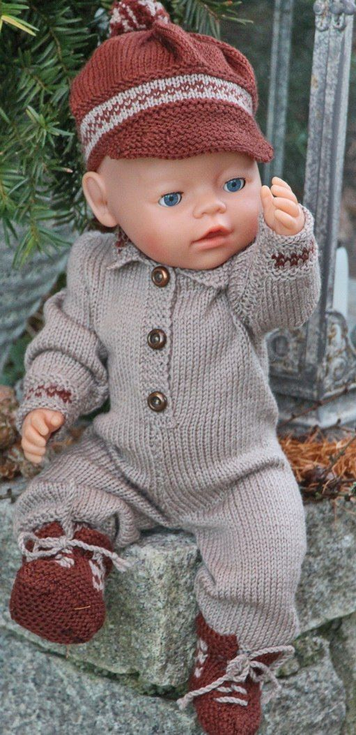 """Maalfrid has picked the best pattern from her Book No. 2: """"Knit Doll clothes""""  -here is LINUS Design: Målfrid Gausel"""