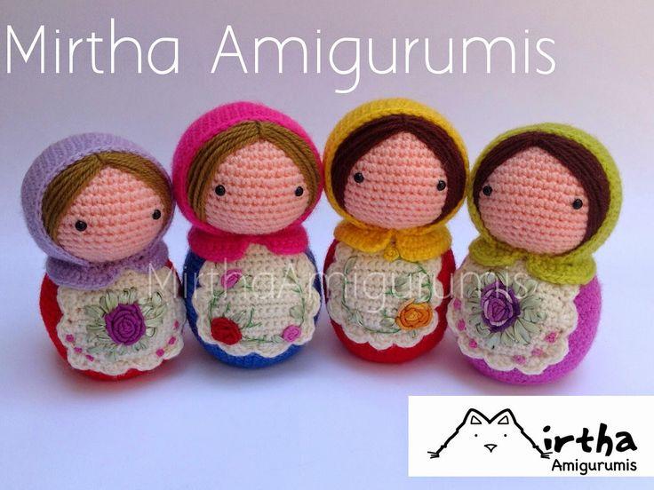 Mirtha Amigurumis: Matrioskas Amigurumis