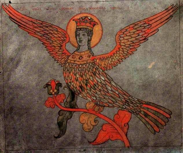 Райская птица Сирин.   Начало 1820-х гг. Неизвестный  художник