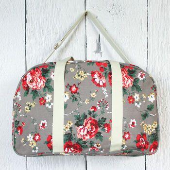 Pastel Floral Weekend Bag