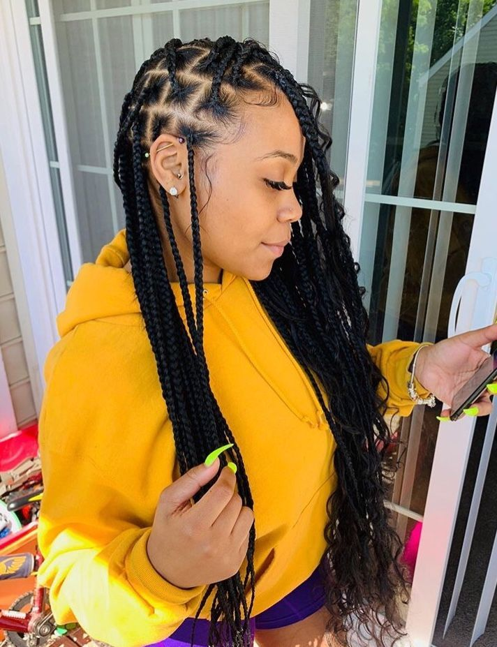 Braided Hairstyles Good For Swimming Braided Hairstyles 2 Braids Braid Dance Hairstyles Braided Hairst Box Braids Hairstyles Braided Hairstyles Hair Styles