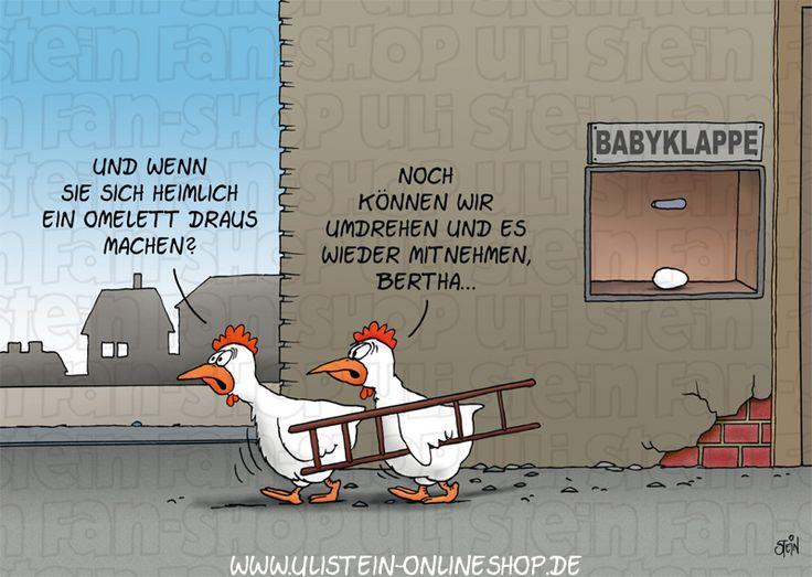 Uli Stein Postkarte / Babyklappe Der Uli Stein Online Shop