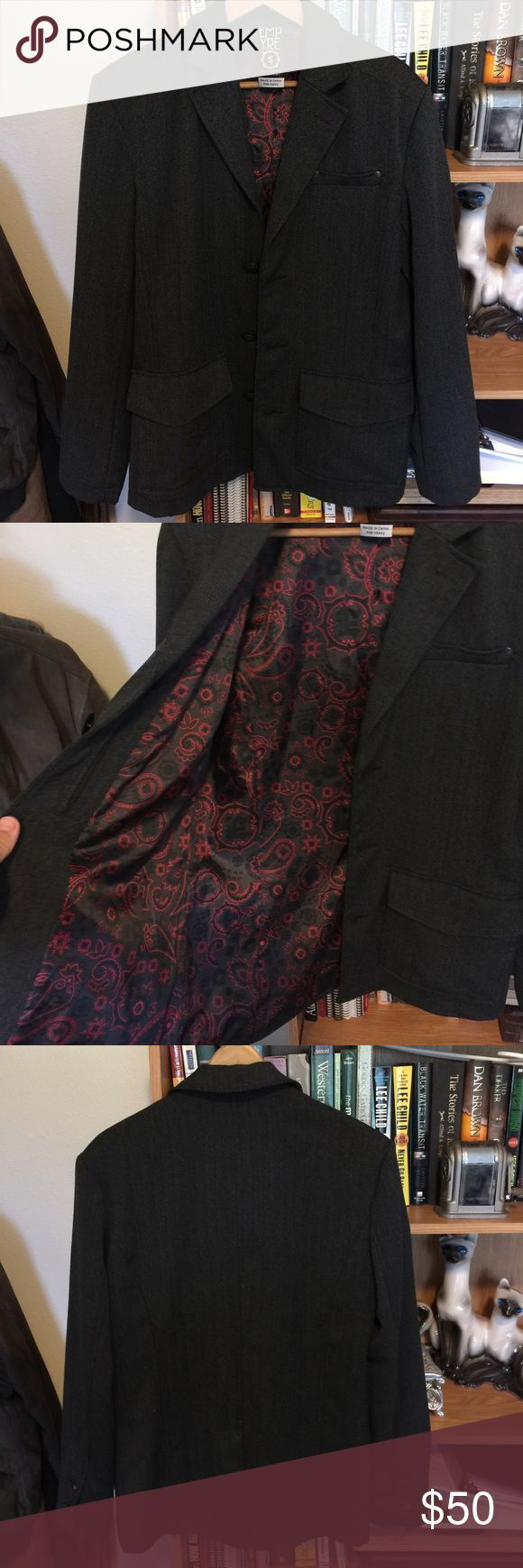 Amazing Empyre dress jacket. Men's size S This is N amazing jacket. 3 button Empyre jacket with an awesome lining. This jacket is too small for me and as upset as I am about that, it's your opportunity to look super fly. Great coat in great condition. Empyre Jackets & Coats Pea Coats