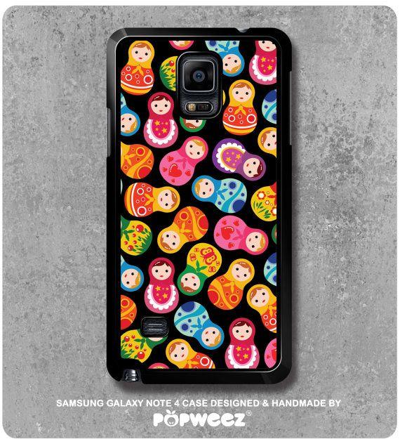 Coque Samsung Galaxy Note 4 Noire Poupées Russes par POPWEEZ
