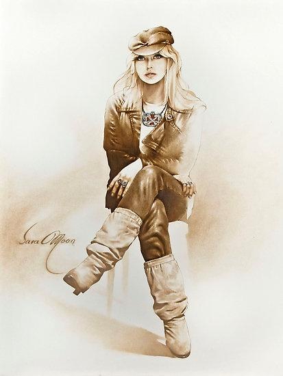 """Rocker Girl""  by Sara Moon"