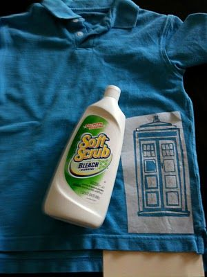 sewn: Back to School Bleached Shirts-- what a fun idea- pillows? dishcloths? endless possibilities