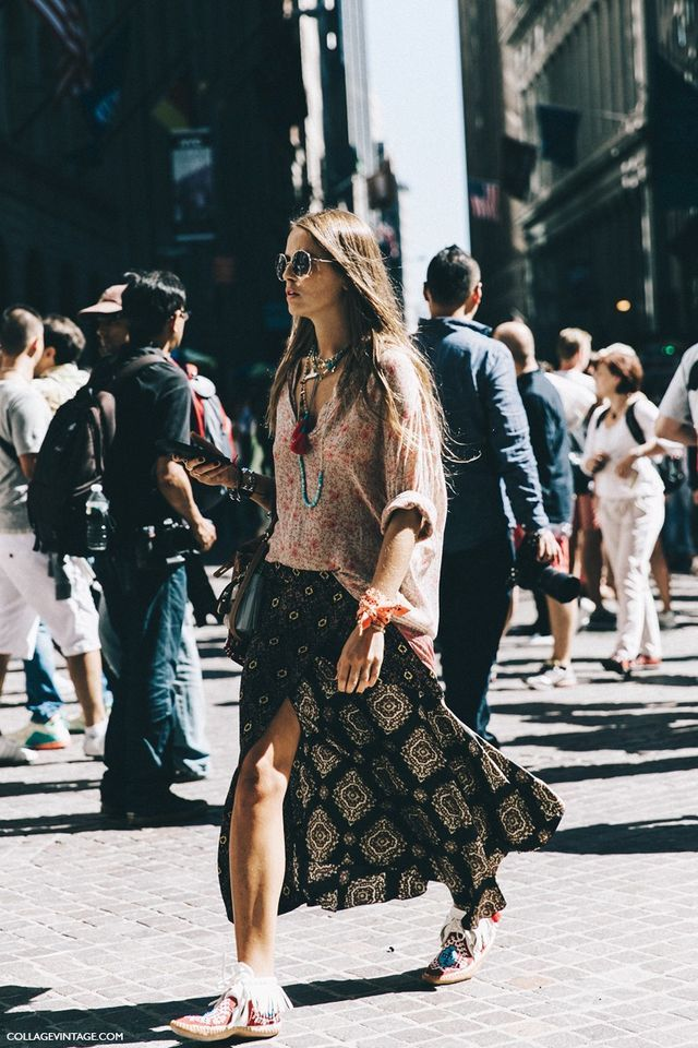 New York Fashion Week Street Style 3 Collage Vintage Inspiration