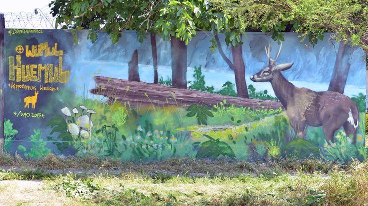 WUMUL /HUEMUL #diadelafauna Autor: NAO #nao #naograffitimural www.naograffitimural.cl