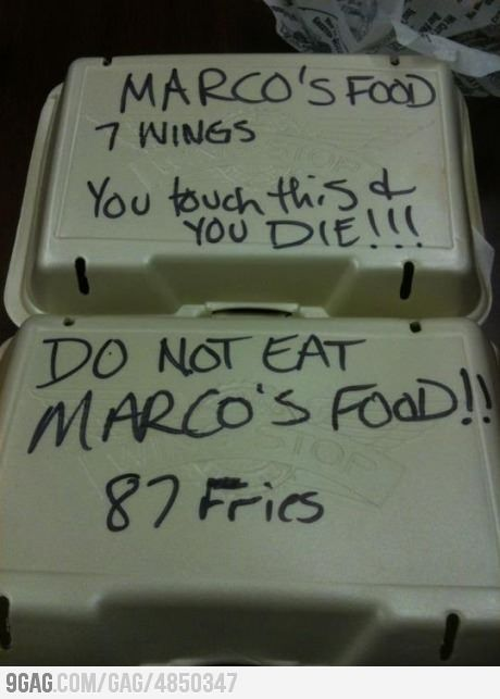 Someone at work is stealing food and Marco got mad: Books Jackets, Funny Pics, Funny Pictures, Food, Funny Stuff, Funny Photos, 87 Fries, Framework, Funny Memes