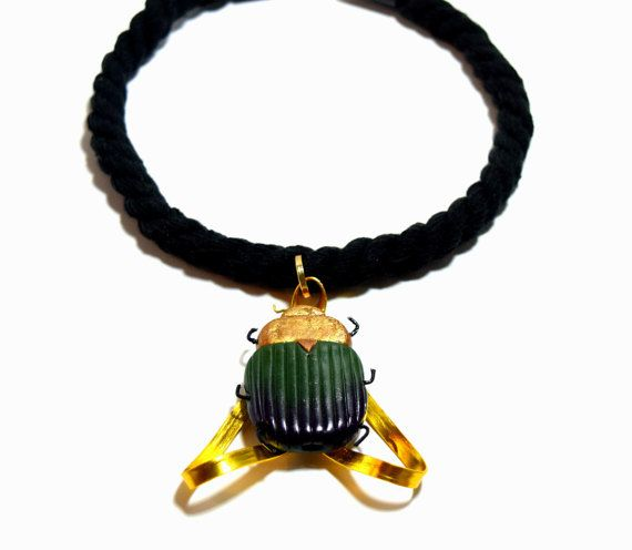 Egyptian necklace, Beetle scarab jewelry, Egyptian jewelry, Scarab pendant, Insect pendant, Scarab necklace, Scarab pendant, Insect necklace