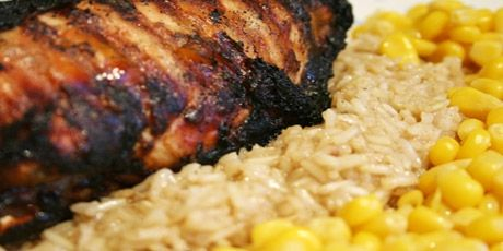 Jerk Chicken with Brown Rice