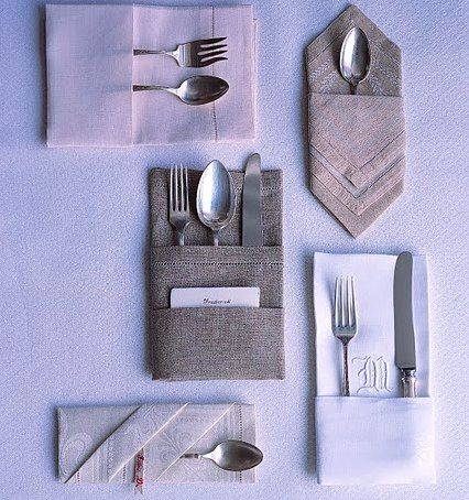 Impress your guests with folded napkins #ideas #dinnerparty #gourmet