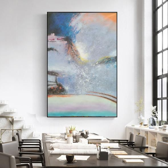 Silver Contemporary Oil Paintings On Canvas Large Abstract Painting L316 Contemporary Oil Paintings Pop Art Painting Large Oil Painting