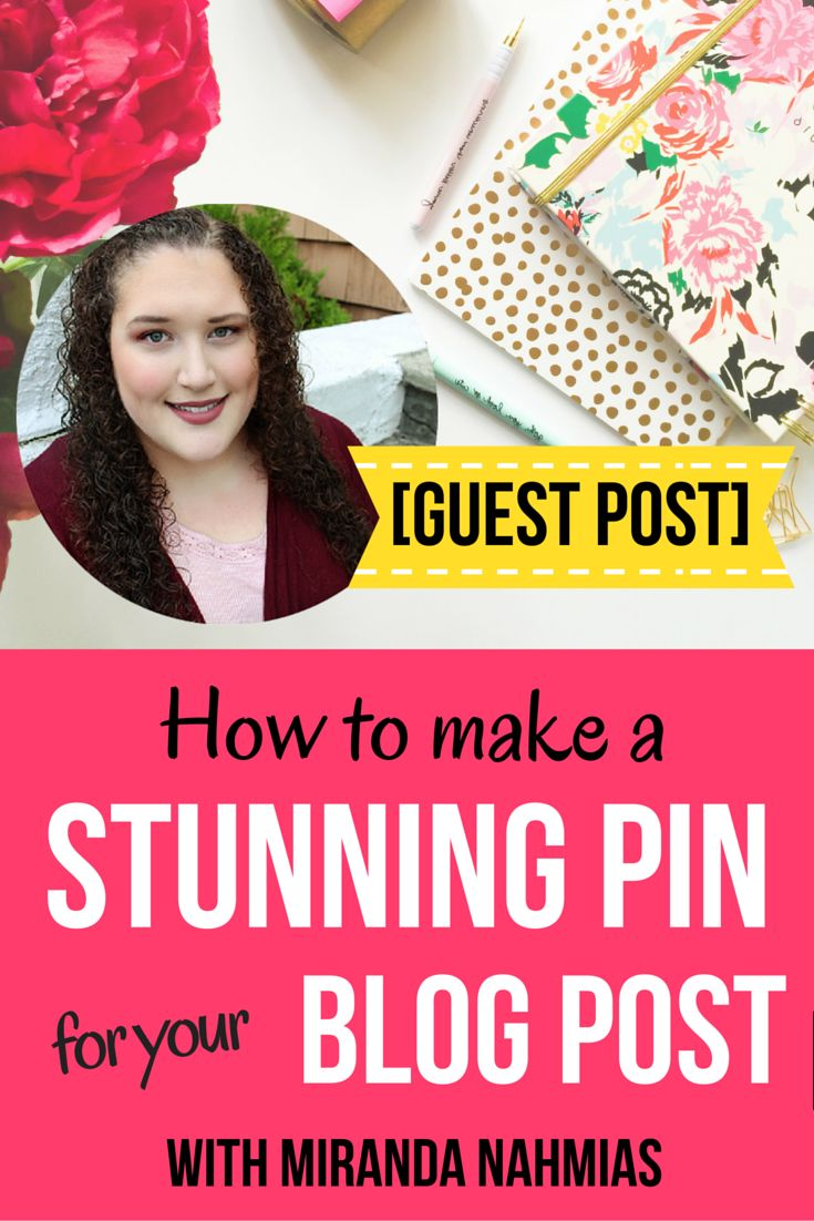 This is a guest post by Miranda Nahmias of MirandaNahmias.com  Today, I'm going to teach you exactly how to create awesome pins for your  blog posts by following the basic rules of graphic design and making use of  the free program Canva.  Canva: Your Favorite Free Design Resource  Before we dive into the tutorial, let's talk a little bit about exactly  what Canva is. If you haven't heard of it before, it's a free online design  program that allows you to create gorgeous graphics for your…