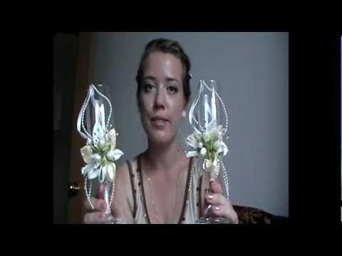▶ Свадебные бокалы своими руками - YouTube