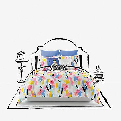 kate spade new york Paintball Floral Duvet Cover Set
