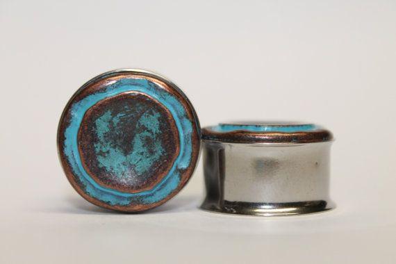 Retro Inspired Baby Blue Plugs gauges   3/4 by FromAHobosHandbag, $20.00