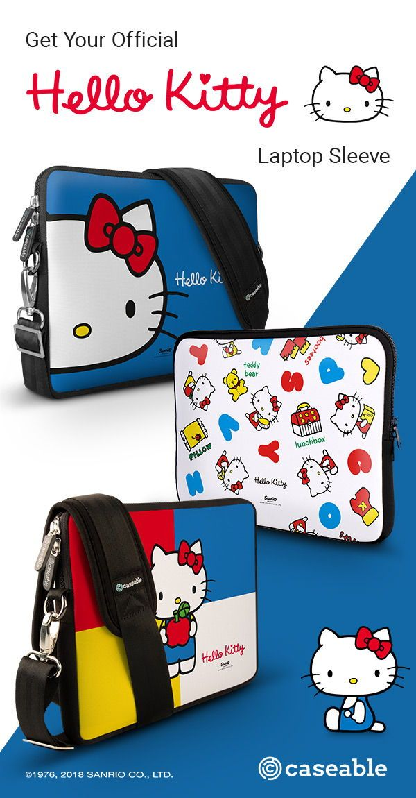 f0dc4fb0f Cute and colorful laptop sleeve designs by Hello Kitty | caseable offers  over 2,500 designs for phone cases, laptop sleeves, laptop backpack, ...