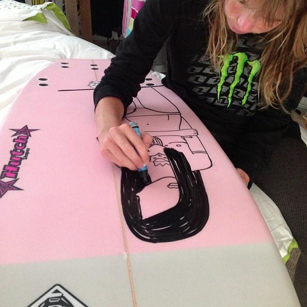 @Tarryn Chudleigh  with @Boardstix Paint Pens @boardstixsa - @surfshack_capetown- #webstagram