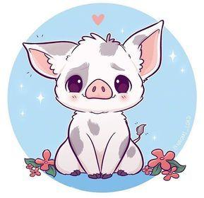 Adorable Fan Art of Pua from Moana! He's so cute!!!! Those eyes!!!! #disney #fan…