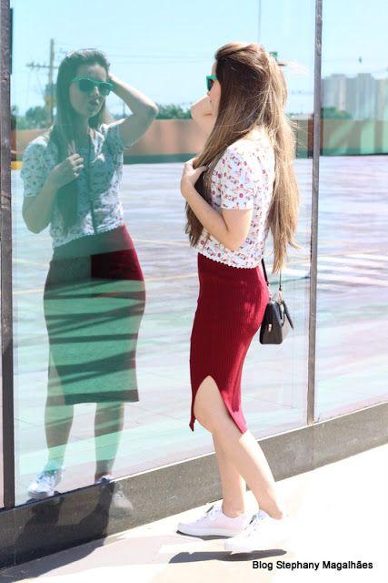 Stephany Magalhães com tênis e minibag #Aslita #PetiteJolie  www.aslita.com.br
