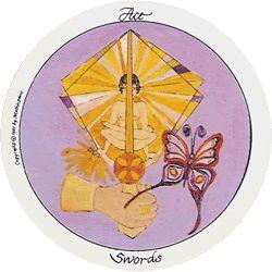 Motherpeace Round Tarot Cards Suit of Swords