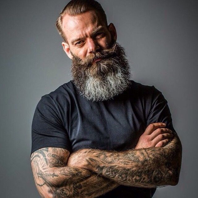 Beards. Men. Going Gray. Ink. Photography.