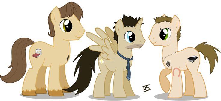 Supernatural Ponies by ~GlamourKat on deviantART