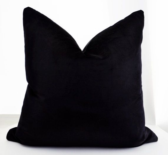 ON SALE ! Autumn Sale! Prices are reduced by 11-15% depending on the size. For example, 22x22 was $45 and now, reduced to $39.  Black velvet pillow