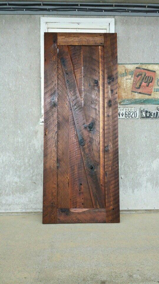 Porte coulissante en bois de grange