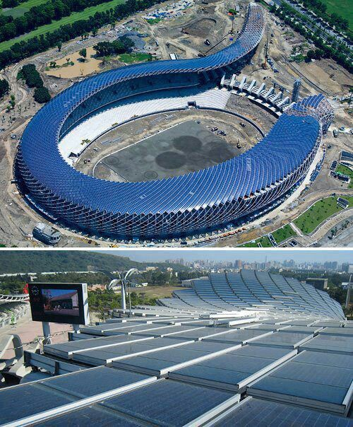 #solar #energy #constructions Stadion in Taiwan