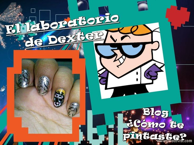 El laboratorio de Dexter (Reto Cartoon Network) #nails #nailart #freehand #horadeaventuras #ellaboratoriodedexter