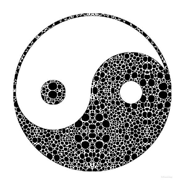 Perfect Balance 1 - Yin And Yang Stone Rock'd Art By Sharon Cummings