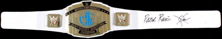 "Scott Hall ""Razor Ramon"" Signed WWE Intercontinental Heavyweight Wrestling Championship Belt (JSA COA)"