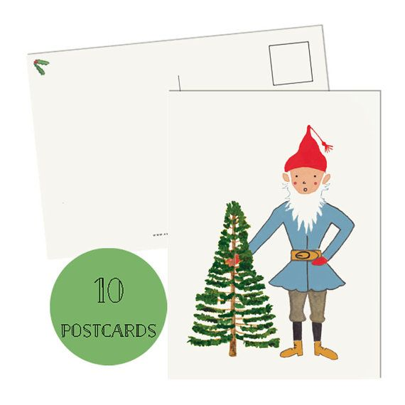 Get 15% off on Etsy using the coupon code PIN99 Christmas Cards  Set of 10 Christmas cards by amylindroos on Etsy