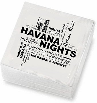 Havana Nights cocktail napkins. 48 ct. by Sentir Cubano,  Miami Store, http://www.amazon.com/dp/B00B7QZXJE/ref=cm_sw_r_pi_dp_9njSrb1C2HDMK