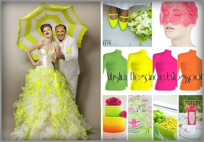 Neon Wedding theme Lycra body top from Muslim Elegance all colors and sizes available