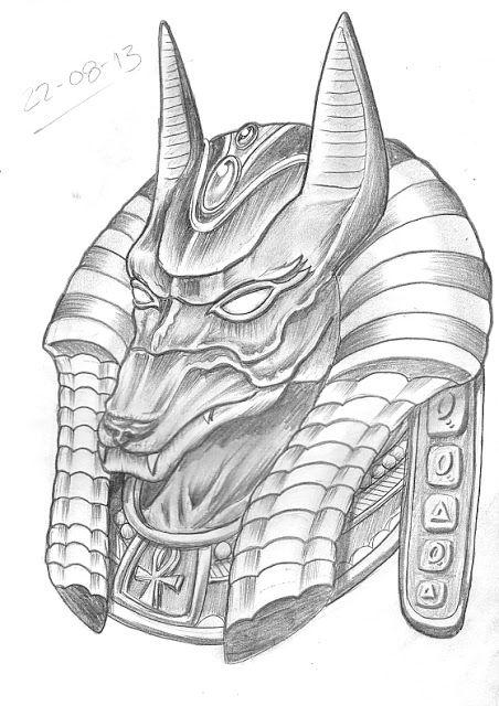 Nefertiti Sketch | Day 234. Egyptian God Anubis design.