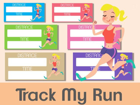 Track My Run Printable Planner stickers Blonde, run tracker, Erin condren, Gym stickers, Fitness stickers, Diet, Health