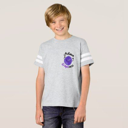 Positive Grape Pun - Achieve Grapeness T-Shirt  $25.65  by PunnyGarden  - cyo customize personalize diy idea
